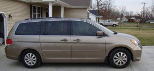 window tinted van
